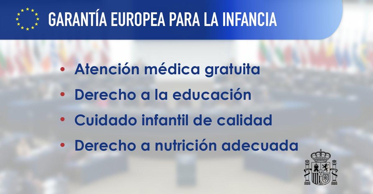 garantía infantil en el Fondo Social Europeo Plus