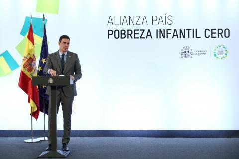 Pedro Sánchez en el acto de presentación de la Alianza